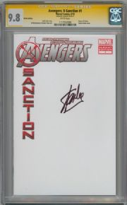 Avengers X-Sanction #1 Blank Sketch Variant CGC 9.8 Signature Series Signed Stan Lee Marvel comic